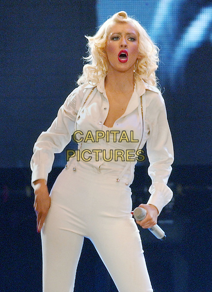 "12 April 2007 - Cleveland, Ohio -  Pop music star, CRISTINA AGUILERA performs on her ""Back To Basics Tour"" held at the Quicken Loans Arena. Photo Credit: Devin Simmons/AdMedia"