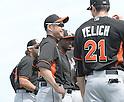 Ichiro Suzuki, Christian Yelich (Marlins),<br /> FEBRUARY 24, 2014 - MLB :<br /> Miami Marlins spring training camp in Jupiter, Florida, United States. (Photo by AFLO)