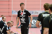 Handball 1. Bundesliga  2012/2013  in der Paul Horn Arena Tuebingen 08.09.2012 TV Neuhausen - TSV Hannover-Burgdorf Trainer Markus Gaugisch (TV Neuhausen)