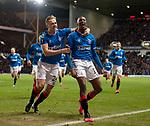20.02.2020 Rangers v SC Braga: Joe Aribo and Greg Stewart