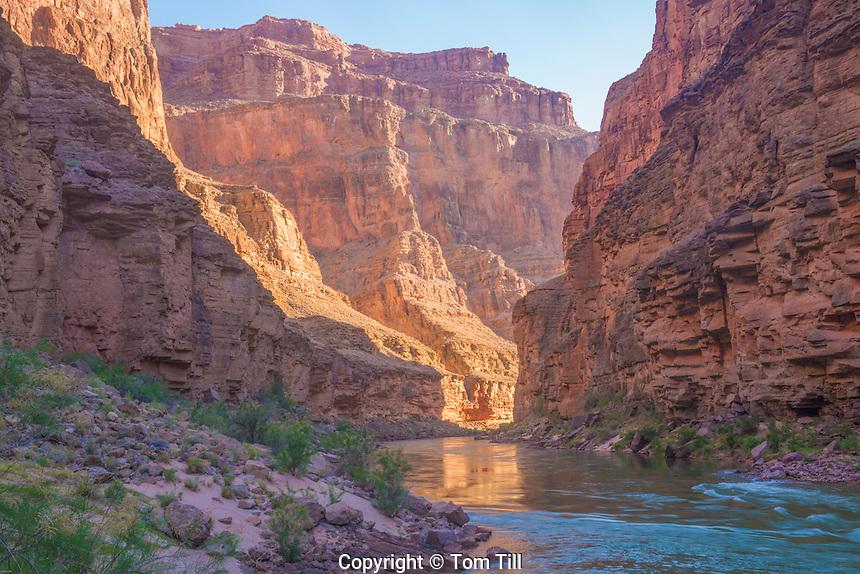 Colorado River reflections at Havasu Canyon Grand Canyon National Park, Arizona, Morning