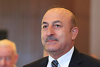 Mevlut Cavusoglu, Minister of Foreign Affairs, at a press conference during Wednesday's Pro-Am of the 2018 Turkish Airlines Open hosted by Regnum Carya Golf &amp; Spa Resort, Antalya, Turkey. 31st October 2018.<br /> Picture: Eoin Clarke | Golffile<br /> <br /> <br /> All photos usage must carry mandatory copyright credit (&copy; Golffile | Eoin Clarke)