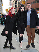 February 11, 2019 Sweet Saraya, Paige Bevis and Zak Bevis to talk about new movie Fighting with Family in New York February  11, 2019 Credit:RW/Mediapunch