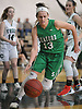 Julia Siler #13 of Seaford dribbles upcourt during a Nassau County Conference ABC varsity girls basketball game against host Carle Place High School on Monday, Jan. 15, 2018. Seaford won by a score of 45-31.