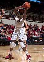 Stanford's  Chiney Ogwumike, attempts to make a basket during Saturday, November 25, 2012 game at Stanford against Long Beach State.. Stanford won 77-41.