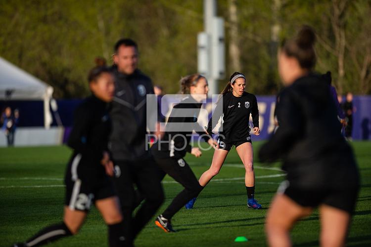 Seattle, WA - Friday, April 5, 2019: Reign FC vs Washington Huskies Preseason at the Husky Soccer Stadium.