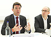 Andy Burnham MP and Luciana Berger MP speech to launch Labour&rsquo;s public health policy at Demos, London, Great Britain <br /> 15th January 2015 <br /> <br /> Andy Burnham MP <br /> shadow Labour Health Minister <br /> <br /> Duncan O'Leary - Demos <br /> <br /> Photograph by Elliott Franks <br /> Image licensed to Elliott Franks Photography Services