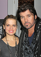 Billy Ray Cyrus with co-star Amy Spanger attend the after-party to celebrate his Broadway debut in the musical &quot;Chicago&quot; at Victor's Cafe in New York, 05.11.2012...Credit: Rolf Mueller/face to face / MediaPunch Inc  ***online only for weekly magazines**** /NortePhoto .<br />