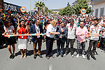 Local dignitaries cut the ribbon for the start of Stage 12 of the 2017 La Vuelta, running 160.1km from Motril to Antequera Los D&oacute;lmenes, Spain. 31st August 2017.<br /> Picture: Unipublic/&copy;photogomezsport | Cyclefile<br /> <br /> <br /> All photos usage must carry mandatory copyright credit (&copy; Cyclefile | Unipublic/&copy;photogomezsport)