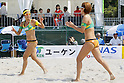 (L to R) Takemi Nishibori, Satoko Urata, MAY 6, 2012 - Beach Volleyball : JBV Tour 2012 Sports Club NAS Open  Women's final at Odaiba Beach, Tokyo, Japan. (Photo by Yusuke Nakanishi/AFLO SPORT) [1090]