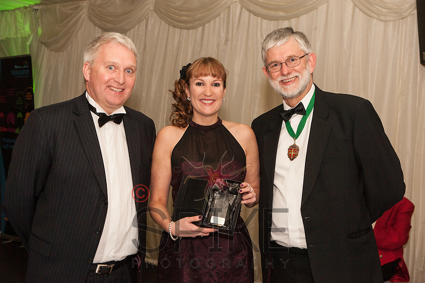 The Nottinghamshire Law Society Practice Manager of the Year Jayne Sheehan was presented by John Harris of Oyez (left) and Society President Richard Nelson