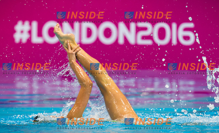 CERRUTI Linda ITA bronze medal<br /> London, Queen Elizabeth II Olympic Park Pool <br /> LEN 2016 European Aquatics Elite Championships <br /> Synchro<br /> Solo free final <br /> Day 02 10-05-2016<br /> Photo Giorgio Perottino/Deepbluemedia/Insidefoto