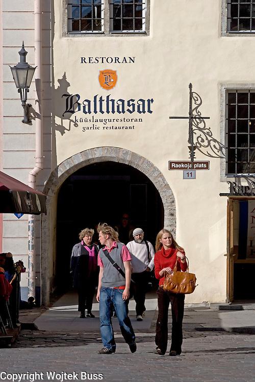 Estonia,Tallinn,The Town Hall Square (Raekoja plats) ,Balthasar - garlic restaurant,Europe,Travel