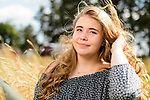 Rachel Stute, 17, poses for a series of high-school senior portraits at her dad's farm in East Troy, Wis., on July 1, 2017. (Photo by Jeff Miller, www.jeffmillerphotography.com)