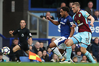 Burnley's Chris Wood and Everton's Ashley Williams<br /> <br /> Photographer Rachel Holborn/CameraSport<br /> <br /> The Premier League - Everton v Burnley - Sunday 1st October 2017 - Goodison Park - Liverpool<br /> <br /> World Copyright &copy; 2017 CameraSport. All rights reserved. 43 Linden Ave. Countesthorpe. Leicester. England. LE8 5PG - Tel: +44 (0) 116 277 4147 - admin@camerasport.com - www.camerasport.com