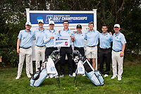 STANFORD, CA -- May 15, 2019. The University of North Carolina Tar Heels men's golf team takes third after Round 3 of the NCAA Regionals at Stanford University Golf Course.