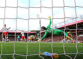 3rd December 2017, Vitality Stadium, Bournemouth, England; EPL Premier League football, Bournemouth versus Southampton; Ryan Fraser of Bournemouth scores past Fraser Forster of Southampton, 1-0 Bournemouth
