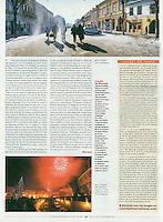 Courrier International (French weekly)..2007/01..Romania enters the European Union..Photo: Gicu Serban