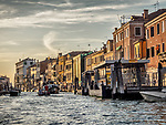 Late afternoon along the canals of Venice, Italy