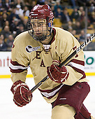 Isaac MacLeod (BC - 7) - The Boston College Eagles defeated the Northeastern University Huskies 7-1 in the opening round of the 2012 Beanpot on Monday, February 6, 2012, at TD Garden in Boston, Massachusetts.