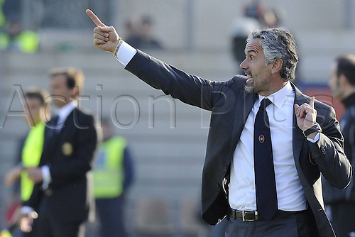 06 01 2011  Cagliari Italy.  Series A Cagliari versus AC Milan  Photo Roberto Donadoni sends in instructions to his team