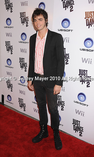 "HOLLYWOOD, CA. - October 19: Reid Ewing arrives at the celebration of the launch of Ubisoft's ""Just Dance 2"" at Las Palmas on October 19, 2010 in Hollywood, California."