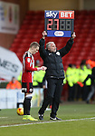 Caolan Lavery of Sheffield Utd waits to replace Leon Clarke of Sheffield Utd during the English League One match at Bramall Lane Stadium, Sheffield. Picture date: December 31st, 2016. Pic Simon Bellis/Sportimage