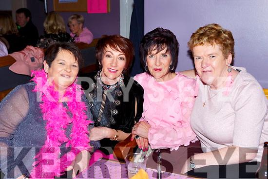Teresa Casey, Anne Mangan, Joan O'sullivan and Joan Devane at the Pink Night Womens Christmas in Kilcummin on Saturday night