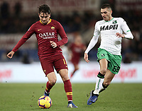 Football, Serie A: AS Roma - US Sassuolo, Olympic stadium, Rome, December 26, 2018. <br /> Roma's Cengiz Under (l) in action with Sassuolo's Medhi Bourabia (r) during the Italian Serie A football match between Roma and Sassuolo at Rome's Olympic stadium, on December 26, 2018.<br /> UPDATE IMAGES PRESS/Isabella Bonotto
