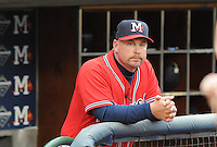 11 April 2008: Manager Phillip Wellman (30) of the Mississippi Braves, Class AA affiliate of the Atlanta Braves, in a game against the Mobile BayBears at Trustmark Park in Pearl, Miss. Photo by:  Tom Priddy/Four Seam Images