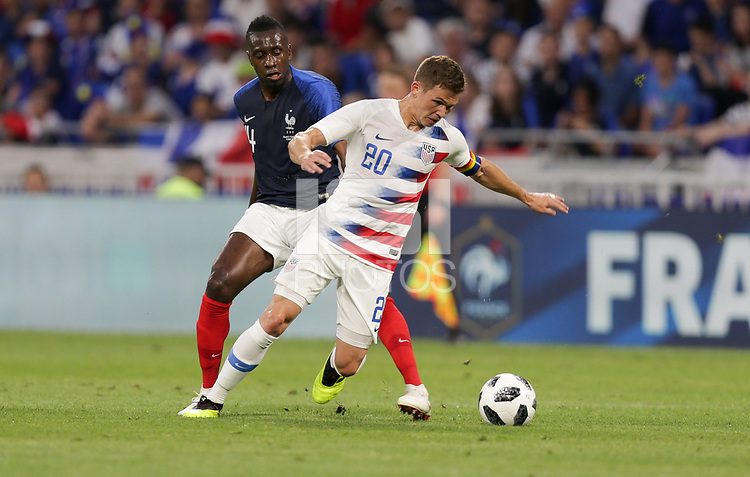 Lyon, France - Saturday June 09, 2018: Wil Trapp during an international friendly match between the men's national teams of the United States (USA) and France (FRA) at Groupama Stadium.