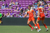 Orlando, FL - Saturday June 24, 2017: Carli Lloyd, Morgan Brian during a regular season National Women's Soccer League (NWSL) match between the Orlando Pride and the Houston Dash at Orlando City Stadium.