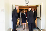 "April 16, 2014. Durham, North Carolina.<br />  Senator Kay Hagan, center, leaves an event to award a posthumous Bronze Star at a local retirement community. Hagan has been largely absent from the campaign trail even as several Republican challengers have mounted campaigns to defeat her in this year's election.<br />  Kay Hagan (D),  US Senator from North Carolina, attended an event to honor the military service of Donald ""Buddy"" Moore, Hagan awarded Moore's widow Wanda a posthumous Bronze Star, as well as several other medals, for his service in World War II."
