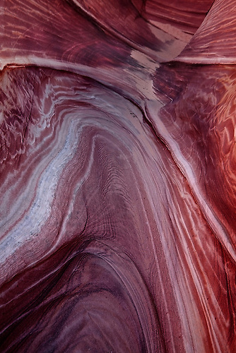 Erosion has created very unusual sandstone formations at The Wave at Coyote Buttes Arizona