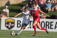 Boyds, MD. - Saturday, June 24 2017:  Ashleigh Sykes, Havana Solaun during a regular season National Women's Soccer League (NWSL) match between the Washington Spirit and the Portland Thorns FC at Maureen Hendricks Field, Maryland SoccerPlex.<br />  The Washington Spirit defeated the Portland Thorns FC 1-0.