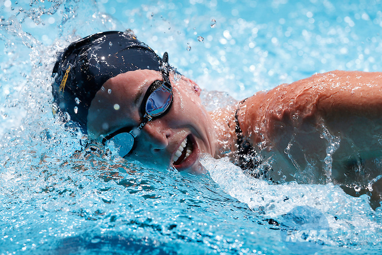 23 MAR 2013:  Haley Anderson of Southern Cal competes in the 1650 yard freestyle during the Division I Women's Swimming and Diving Championships held at the IU Natatorium and the IUPUI Sports Complex in Indianapolis, IN. Anderson won the national title with a 15:45.98 time.  Joe Robbins/NCAA Photos