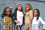 Pictured at Africa day in Presentation Primary, Tralee on Saturday were l-r: Busole Akincope, Precious Dike, Feyi Odugvesan and Lihleh Adebe Hadway