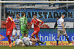 02.12.2018, Schauinsland-Reisen-Arena, Duisburg, GER, 2. FBL, MSV Duisburg vs. Holstein Kiel, DFL regulations prohibit any use of photographs as image sequences and/or quasi-video<br /> <br /> im Bild Janni-Luca Serra (#23, Holstein Kiel) macht das Tor zum 0:3<br /> <br /> Foto &copy; nordphoto/Mauelshagen
