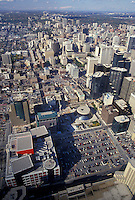 AJ3072, Toronto, Ontario, Canada, Scenic aerial view of the city of Toronto from the CN Tower.