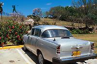 Cuba, Oldtimer beim Golfplatz in Varadero, Provinz Mantanzas