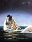 Sandi, REALISTIC ANIMALS, REALISTISCHE TIERE, ANIMALES REALISTICOS, paintings+++++,USSN67,#a#, EVERYDAY ,polar bears ,puzzles