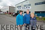 Heidi Hilcken, David Anderson, Manager and Mary O'Sullivan of    JLT Tiles, Farranfore