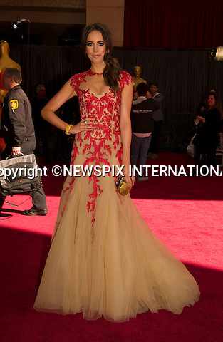 """LOUISE ROE..Red Carpet arrival for the 85th Annual Academy Awards, Dolby Theatre, Hollywood, Los Angeles_23/02/2013.Mandatory Photo Credit: ©Dias/Newspix International..**ALL FEES PAYABLE TO: """"NEWSPIX INTERNATIONAL""""**..PHOTO CREDIT MANDATORY!!: NEWSPIX INTERNATIONAL(Failure to credit will incur a surcharge of 100% of reproduction fees)..IMMEDIATE CONFIRMATION OF USAGE REQUIRED:.Newspix International, 31 Chinnery Hill, Bishop's Stortford, ENGLAND CM23 3PS.Tel:+441279 324672  ; Fax: +441279656877.Mobile:  0777568 1153.e-mail: info@newspixinternational.co.uk"""