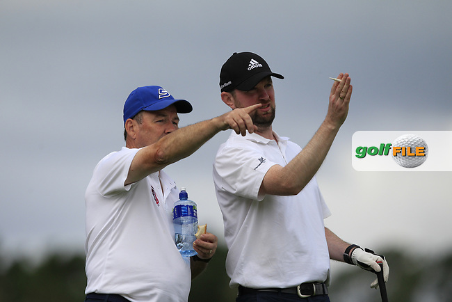 Sean McGahon (Roscommon) on the 10th tee during the Final of the AIG Jimmy Bruen Shield in the AIG Cups & Shields Connacht Finals 2019 in Westport Golf Club, Westport, Co. Mayo on Sunday 11th August 2019.<br />