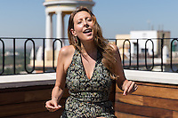 Spanish singer Lucy Lummis during the presentation of his new concert at the courtyard of Galileo theater on the terrace of Vincci Hotel of Madrid. August 11, 2016. (ALTERPHOTOS/Rodrigo Jimenez) /NORTEPHOTO