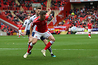 Ben Purrington of Charlton Athletic holds off Paul Gallagher of Preston North End during Charlton Athletic vs Preston North End, Sky Bet EFL Championship Football at The Valley on 3rd November 2019