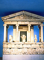 "Greek Art:  The Nereid Monument, circa 400 B.C., Xanthos.  ""Directly east of Rhodes.  The female figures formerly identified as Nereids are now thought to be Aurae, or personifications of the Breezes."""