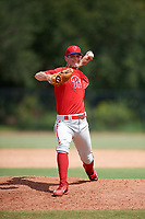 Philadelphia Phillies pitcher Zach Warren (33) delivers a pitch during an Instructional League game against the Toronto Blue Jays on September 30, 2017 at the Carpenter Complex in Clearwater, Florida.  (Mike Janes/Four Seam Images)