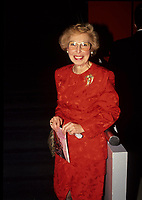 Montreal (Qc) CANADA - File Photo (between 1991 and 1995) - Sheila Finestone.<br /> <br /> Sheila Finestone passed away Monday June 8 2009 at 82.<br /> <br /> She was elected for the Liberal Party in  the 1984 Canadian election, in the former riding of Pierre-Eliott Trudeau. Later on she was a member of Canada Senate.