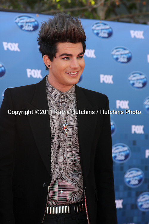 LOS ANGELES - MAY 25:  Adam Lambert arriving at the 2011 American Idol Finale at MGM Grand Garden Arena on May 25, 2010 in Los Angeles, CA.